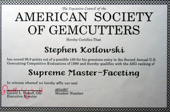 Stephen Kotlowski Master Faceting