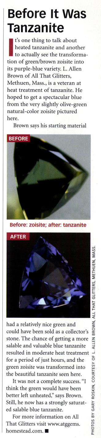 JCK Article - Before It Was Tanzanite