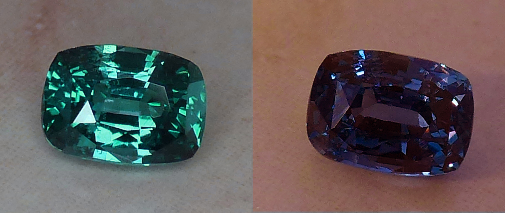 large natural 1.56ct alexandrite with wonderful color change