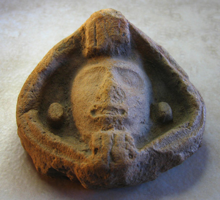 aztec warrior terra cotta head