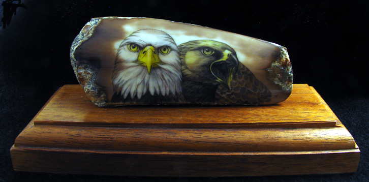 fossilized ivory scrimshaw