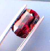 faceted red garnet from ATG rough