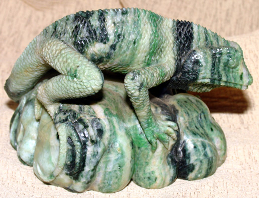 carved jade lizard