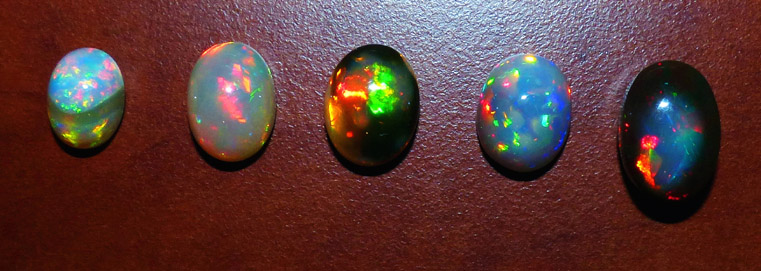 group of fancy ethiopian opal