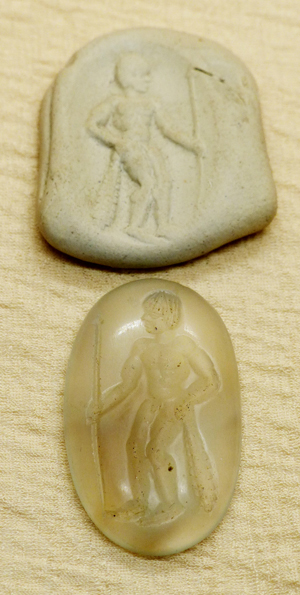 hellenistic seal with hercules
