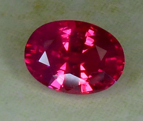 neon pinkish magenta 1.13ct ruby from mozambique