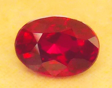 unheated 79pt oval ruby - certed