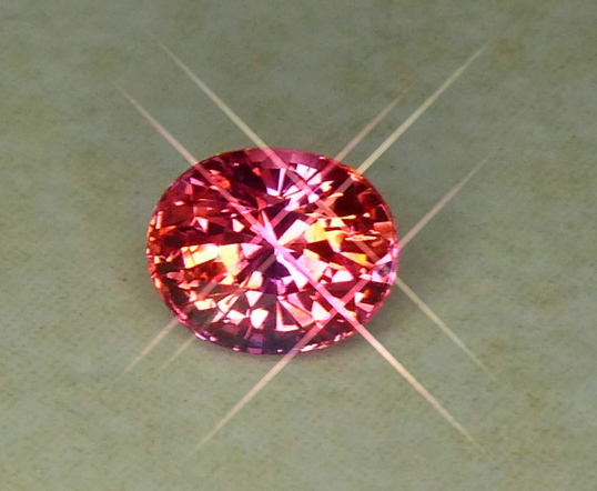 wonderful orangy pink gia certed pad sapphire