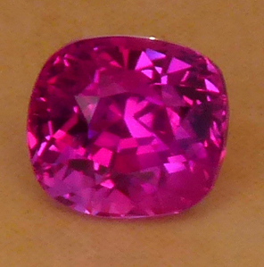 certed deep 'glowing' pink sapphire