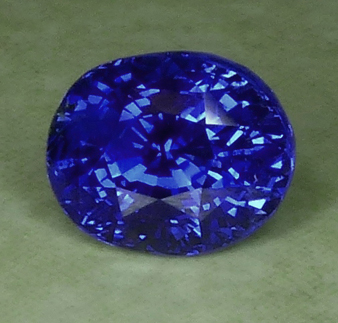 unheated glowing blue sapphire