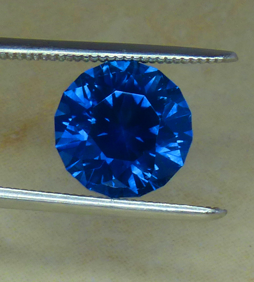 3.59ct Round Blue MONTANA Sapphire - U.S. Faceted!