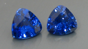 matched trilliant sapphires