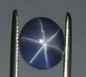 light-medium blue star sapphire