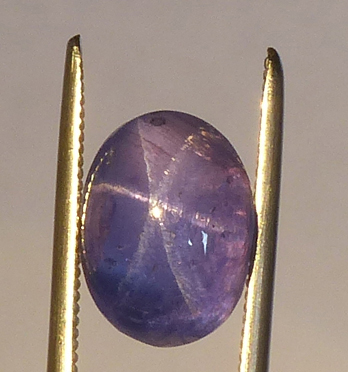 violet blue color shifting star sapphire