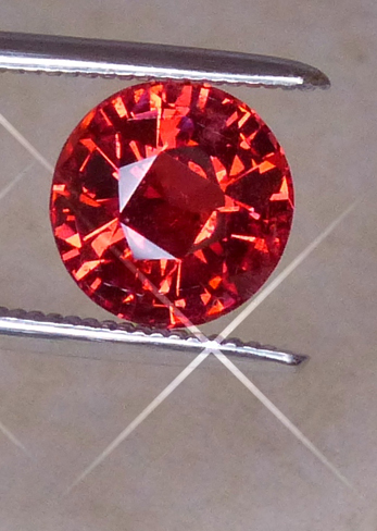 bright salmon orange spinel - mahenge