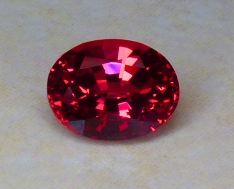 beautiful red vietnamese spinel