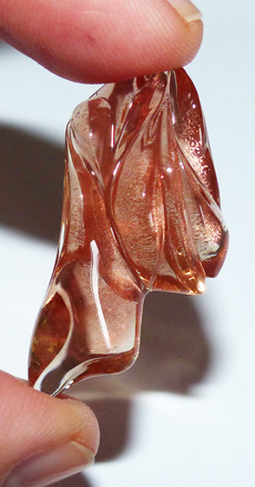 oregon sunstone with schiller - carved by Dalan Hargrave