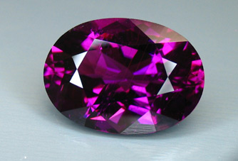 published purple mozambique tourmaline - recut by our master cutter