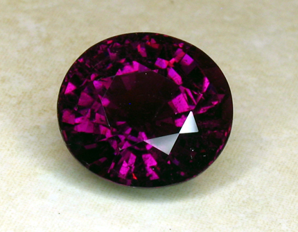 certed mozambique purple tourmaline