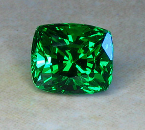 1.63ct Brilliant Square Cushion Tsavorite