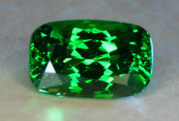 3.11ct Elongated Cushion U.S. Faceted Tsavorite