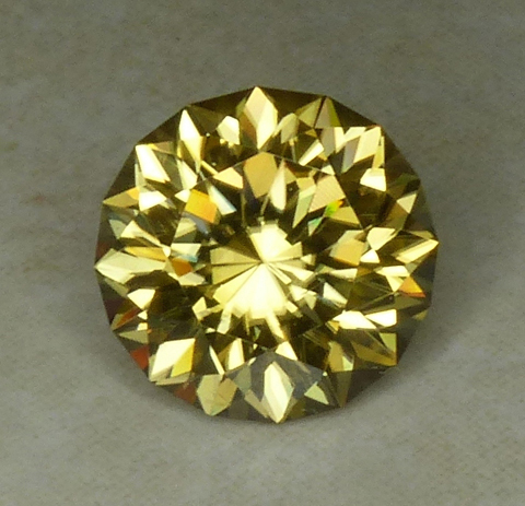 round yellow zircon