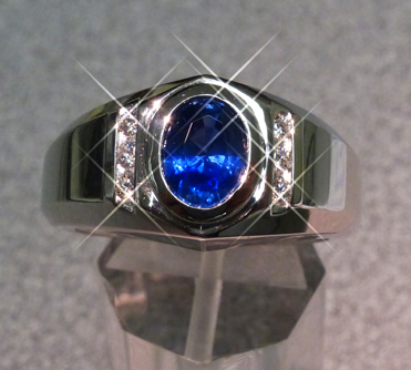 sapphire mans ring