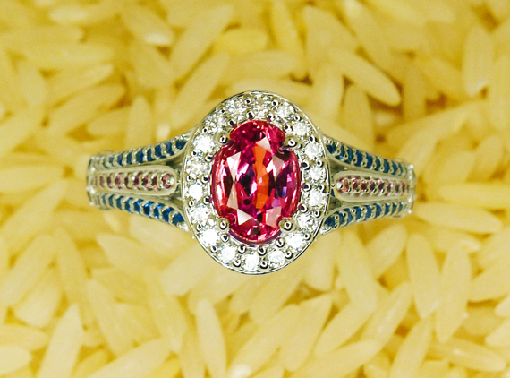 pad diamond ring