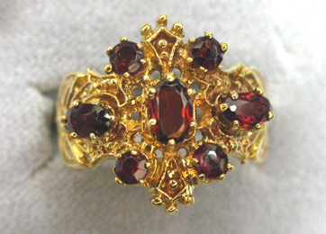 antique estate garnet ring