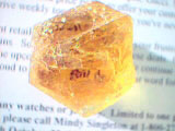 facet quality etched yellow beryl crystal, tajikistan