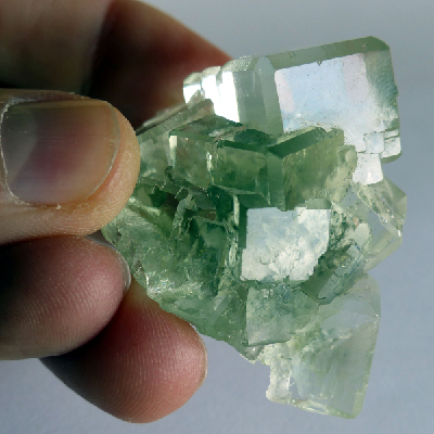 chinese light green fluorite cluster