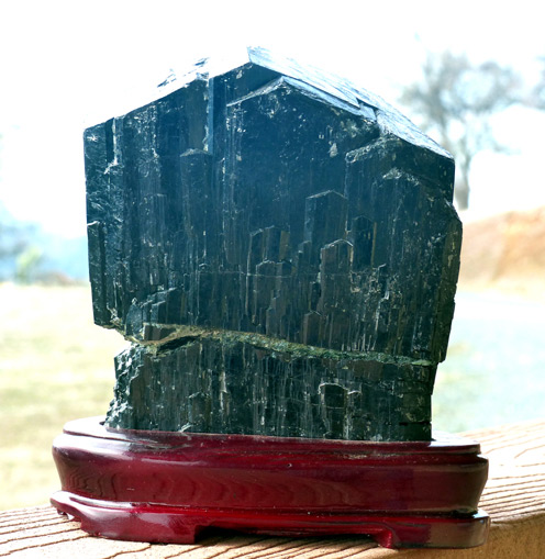 large black chinese tourmaline crystal