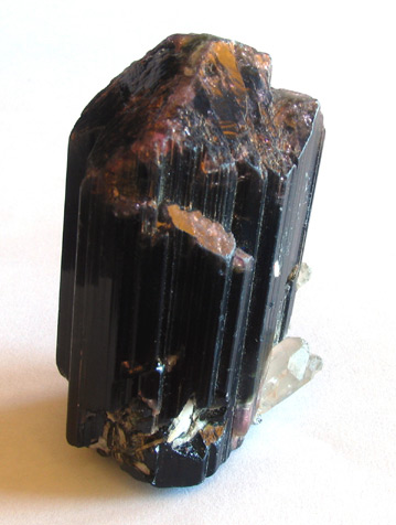 tourmaline crystal and quartz specimen