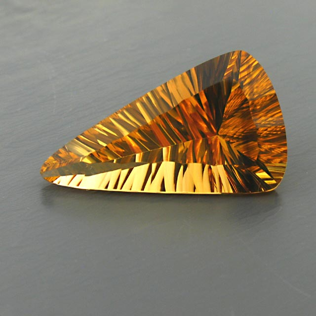 concave natural citrine