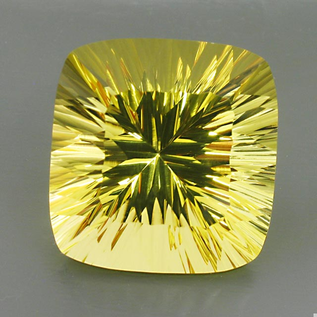 concave lemon citrine