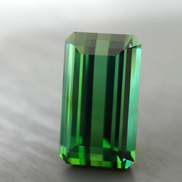 refaceted Brasilian green tourmaline